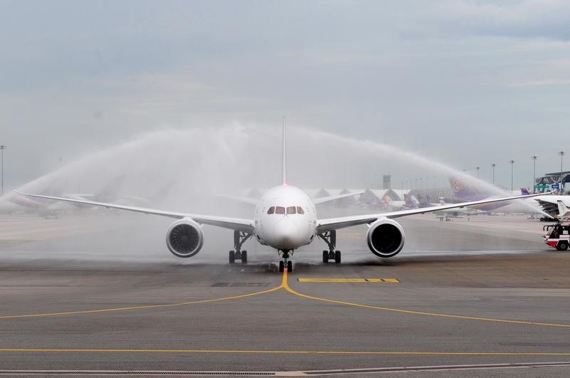 การบินไทยต้อนรับเครื่องบิน Boeing 787-800 เข้าประจำฝูงบิน ภาพ: การบินไทย